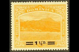 1920 1½d On 2½d Orange Surcharge With SHORT FRACTION BAR Variety, SG 60a, Never Hinged Mint, Very Fresh. For More Images - Dominica (...-1978)