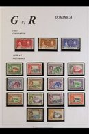 1937-51 All Diff VFM Colln Incl 1838-47 Defin Set Etc (28 Stamps) Includes 1938-47 Complete Definitive Set, 1948 Silver  - Dominica (...-1978)