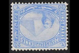 1879 20pa Pale Blue, Watermark Inverted, SG 46w, Fine Mint. For More Images, Please Visit Http://www.sandafayre.com/item - Unclassified