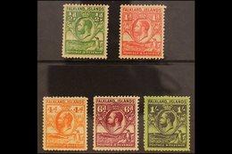 1929 ½d, 1d, 4d, 6d And 1s All Line Perf 14, SG 116a - 122a, Very Fine Mint. (5 Stamps) For More Images, Please Visit Ht - Falkland Islands