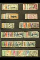 1933 - 64 Useful Mint Selection With Centenary Vals To 1s, 1935 Jubilee Set, 1938 Vals To £1, 1944 Deps Sets, 1954 Set N - Falkland Islands