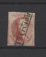 BELGIQUE.  YT  N° 8  Oblitération Rare  1851 - 1851-1857 Medallions (6/8)