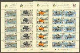 2009 Centenary Of Naval Aviation Set, SG 463/6, Sheetlets Of 10, NHM (4 Sheetlets) For More Images, Please Visit Http:// - Islas Malvinas