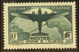 1936 10fr Myrtle-green South Atlantic Flight, SG 554 Or Yvert 321, Fine Mint. For More Images, Please Visit Http://www.s - France