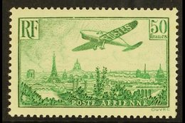 1936 50f Green Air Post, Yv 14, Very Fine Mint For More Images, Please Visit Http://www.sandafayre.com/itemdetails.aspx? - France