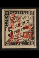CONGO 1892 5c On 5c Black Overprint On Postage Due Reading Up (Yvert 8, SG 13), Fine Mint, Four Good To Large Margins, F - Frankrijk (oude Kolonies En Protectoraten)