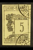 DIEGO SUAREZ 1890 5c Grey Black Allegory, Yv 7, Very Fine Used. For More Images, Please Visit Http://www.sandafayre.com/ - Frankrijk (oude Kolonies En Protectoraten)