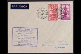 FRENCH SUDAN 1937 (20 NOV) Pair Of Matching Air Mail First Flight Covers To Dakar Bearing 40c Plus 1fr25 And 75c Plus 90 - Frankrijk (oude Kolonies En Protectoraten)