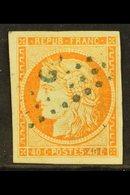 "GUADELOUPE 1871 40c Orange, Ceres, Yv 13, Superb Used With Blue Dotted Lozenge ""GPE"" Cancel. For More Images, Please Vis - Frankrijk (oude Kolonies En Protectoraten)"