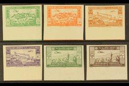 LEBANON 1943 Air Second Anniv Of Independence Anniv Complete IMPERF Set (Yvert 85/90, SG 269/74), Never Hinged Mint Matc - Frankrijk (oude Kolonies En Protectoraten)