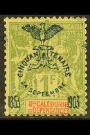 NEW CALEDONIA 1903 1fr Olive 50th Anniv, Yv 80, Fine Mint. Signed Calves. For More Images, Please Visit Http://www.sanda - Frankrijk (oude Kolonies En Protectoraten)