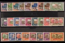 NEW CALEDONIA 1933 First Anniv Of Paris - Noumea Flight Overprints Complete Set (Yvert 3/28, SG 185/210), Very Fine Ligh - Frankrijk (oude Kolonies En Protectoraten)