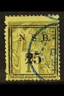 """NOSSI-BE 1890 Framed """"25"""" On 1fr Olive, Yv 18, Fine Used With Blue Cds Cancel. Signed Kohler. For More Images, Please Vi - Frankrijk (oude Kolonies En Protectoraten)"""