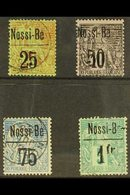 NOSSI-BE 1893 Surcharged Set (SG 36/9, Yvert 19/22), Fine Used (4 Stamps) For More Images, Please Visit Http://www.sanda - Frankrijk (oude Kolonies En Protectoraten)