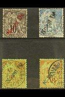 NOSSI-BE 1893 Overprinted Set (SG 40/43, Yvert 23/26), Fine Used (4 Stamps) For More Images, Please Visit Http://www.san - Frankrijk (oude Kolonies En Protectoraten)