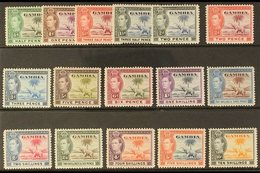 1938-46 Complete King George VI (Elephants) Definitive Set, SG 150/161, Fine Mint. (16 Stamps) For More Images, Please V - Gambia (...-1964)