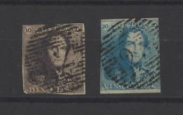 BELGIQUE.  YT  N° 1/2  Obl 1849 - 1849 Epaulettes