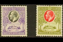 1928 Christiansborg Castle 2s & 5s, SG 111/12, Fine Mint (2 Stamps) For More Images, Please Visit Http://www.sandafayre. - Costa De Oro (...-1957)
