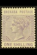 1883 1s Pale Violet, Wmk Crown CA (inverted), SG 36, Very Fine Mint. For More Images, Please Visit Http://www.sandafayre - Grenada (...-1974)