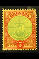 1908-11 5s Green And Red On Yellow Badge, SG 88, Fine Mint.  For More Images, Please Visit Http://www.sandafayre.com/ite - Grenada (...-1974)