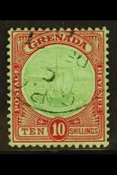 1913 10s Green And Red On Green, SG 101, Very Fine Used, Neat Cds Cancel. For More Images, Please Visit Http://www.sanda - Grenada (...-1974)