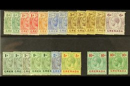 1913-22 Complete Set, SG 89/101, Plus Additional Shades To 10s, Fine Mint. (21 Stamps) For More Images, Please Visit Htt - Grenada (...-1974)
