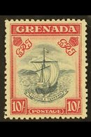 1938 10s Slate Blue And Bright Carmine, Perf 12, SG 163c, Very Fine And Fresh Mint. Rare Stamp. For More Images, Please  - Grenada (...-1974)