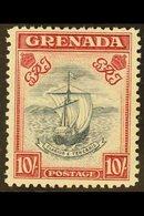 1938-50 10s Slate-blue And Bright Carmine (narrow Frame) Perf 12, SG 163c, Mint Lightly Hinged. Very Scarce, Cat £750. F - Grenada (...-1974)
