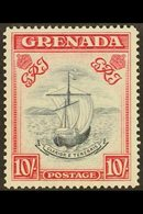 1938-50 10s Slate Blue & Carmine Lake (Wide Frame) Perf 14, SG 163d, Very Fine Mint For More Images, Please Visit Http:/ - Grenada (...-1974)
