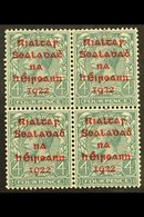 1922 4d Grey-green With Carmine Overprint, SG 6c, A Very Fine Mint Block Of Four. For More Images, Please Visit Http://w - Ireland