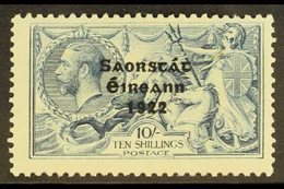 1922-23 10s Dull Grey-blue With Three Line Overprint, SG 66, Fine Mint. For More Images, Please Visit Http://www.sandafa - Ireland