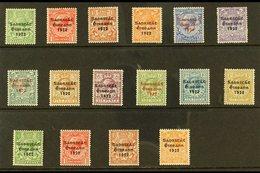 1922-23 IRISH FREE STATE OVERPRINTS Fine Fresh Mint Collection Comprising Thom Set To 1s (SG 52/63), Plus Harrison Set ( - Ireland
