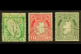 1922-34 COIL STAMPS ½d, 1d Perf 15 X Imperf, And 2d Imperf X Perf 14, SG 71a, 72c And 74a, Fine Cds Used. (3) For More I - Ireland