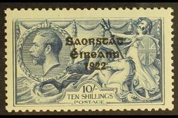 1925-8 10s Dull Grey-blue, Narrow Date Ovpt, SG 85, Superb Mint, Lightly Hinged At One Corner. For More Images, Please V - Ireland