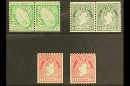 1933-34 Coil Stamps, ½d And 2d Pairs, Single Stamps Of 1d And 1d Single Perf., SG 71a, 72 B/c And 74b, In Fine And Scarc - Ireland
