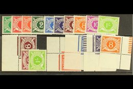 POSTAGE DUE 1940-70 Complete Set, SG D5/14, Plus Sideways Watermarks 6d (both) And 1s, Inverted Watermarks 1½d, 3d, 5d A - Ireland