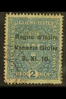 VENEZIA GIULIA 1918 2k Blue Overprint (Sassone 15, SG 45), Lightly Used, Cat 750 Euro = £640+. For More Images, Please V - Unclassified