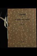 1947 UPU CONGRESS PRESENTATION FOLDER. A Special Printed 'Souvenir Du XIIe Congres Postal Universel Paris 1947 Japon' Pr - Japan