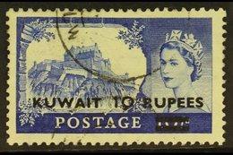 1955-57 10r On 10s Ultramarine Overprint Type II, SG 109a, Fine Used. For More Images, Please Visit Http://www.sandafayr - Kuwait