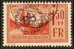 OFFICIAL 1934-35 1.50f Red-brown Overprint (SG O159, Michel 19), Superb Cds Used, Fresh. For More Images, Please Visit H - Liechtenstein
