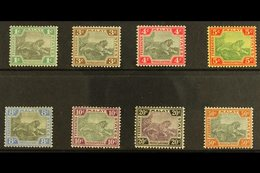FMS 1900 1c - 50c, Tiger Set Wmk Crown CA, 10c And 50c Centres In Grey, SG 15/22 (20a, 22a) Very Fine And Fresh Mint. Fo - Great Britain (former Colonies & Protectorates)