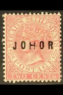 """JOHORE 1884-91 2c Pale Rose """"JOHOR"""" Overprint With """"H"""" Wide, SG 11, Fine Mint, Fresh. For More Images, Please Visit Http - Great Britain (former Colonies & Protectorates)"""