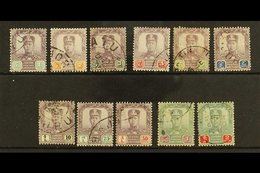 JOHORE 1904-10 Sultan Sir Ibrahim, Wmk Rosette, Set To $2, SG 61/71, Good To Fine Used, 5c Thinned, $1 & $2 Toned, But S - Great Britain (former Colonies & Protectorates)