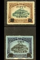 KEDAH 1919 50c On $2 And $1 On $3, SG 24/25, Very Fine Mint. (2) For More Images, Please Visit Http://www.sandafayre.com - Great Britain (former Colonies & Protectorates)