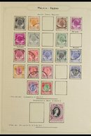 KEDAH 1950-71 FINE USED All Different Collection On Album Pages, 1950-55 Definitive Range To $2, 1957 Definitives Comple - Great Britain (former Colonies & Protectorates)