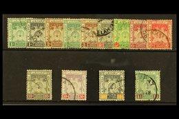 KELANTAN 1921 Arms Set, Wmk Script, SG 14/23, Very Fine Used. (13 Stamps) For More Images, Please Visit Http://www.sanda - Great Britain (former Colonies & Protectorates)