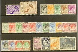 MALACCA 1948-52 KGVI COMPLETE MINT Collection On A Stock Card, SG 1/21, Fine Mint (26 Stamps) For More Images, Please Vi - Great Britain (former Colonies & Protectorates)
