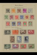 MALACCA 1949-1971 VERY FINE USED COLLECTION On Leaves, All Different, Includes 1949-52 KGVI Most Vals To $1, Plus $2 & $ - Great Britain (former Colonies & Protectorates)