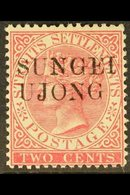 """NEGRI SEMBILAN 1885-90 2c Pale Rose, SG Type 26 """"SUNGEI UJONG"""" Ovpt, SG 41, Very Fine Mint. For More Images, Please Visi - Great Britain (former Colonies & Protectorates)"""