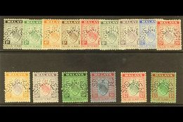 """NEGRI SEMBILAN 1941 """"Arms"""" Set Of 15 (less The 1941 Issues) Perforated """"Specimen"""", SG Between 21-39, Very Fine Mint. (15 - Great Britain (former Colonies & Protectorates)"""